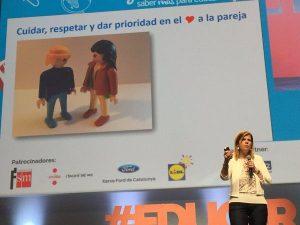 Intervención de Eva Bahc. Foto Javier Palop.