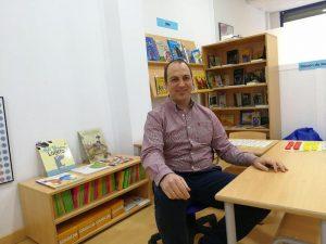 José Ignacio en su centro Kumon.