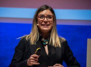 Nayara Malnero durante su ponencia